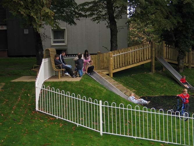 muf designed a play area on a housing estate for a range of ages, from small children to teenagers.