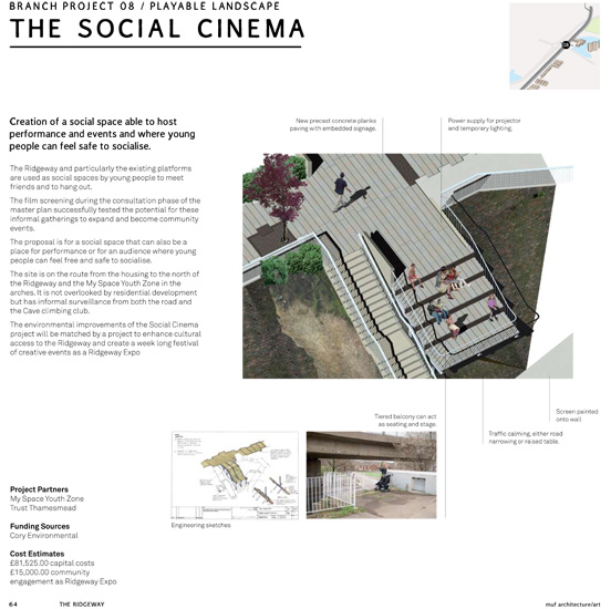 During the consultation phase, there were a series of films screened under the Harrow Manor Way flyover to test possibilities of future gatherings.