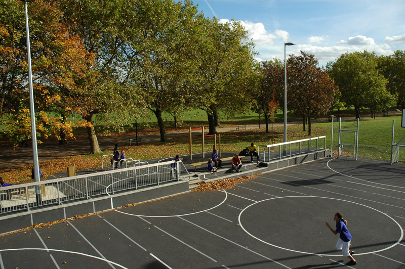 Proposals were made for each site to enhance their potential as amenities, not only as routes but also as destinations with multiple uses. One built outcome of this study was the social MUGA, a space for both playing sport and social gathering.