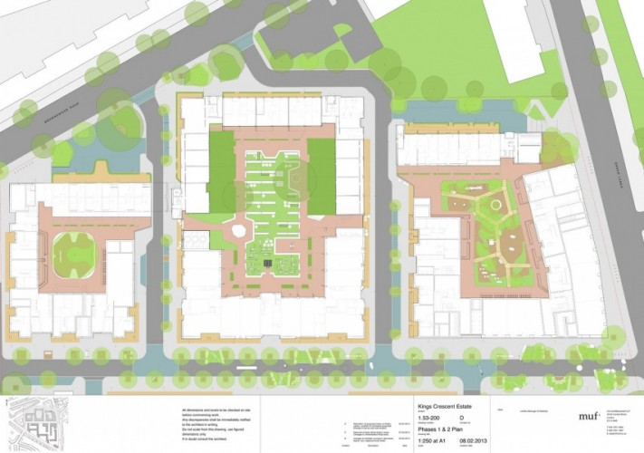 Muf are part of a team to re-work an existing masterplan for the redevelopment of the Kings Cresent housing estate, comprising both renovation of 