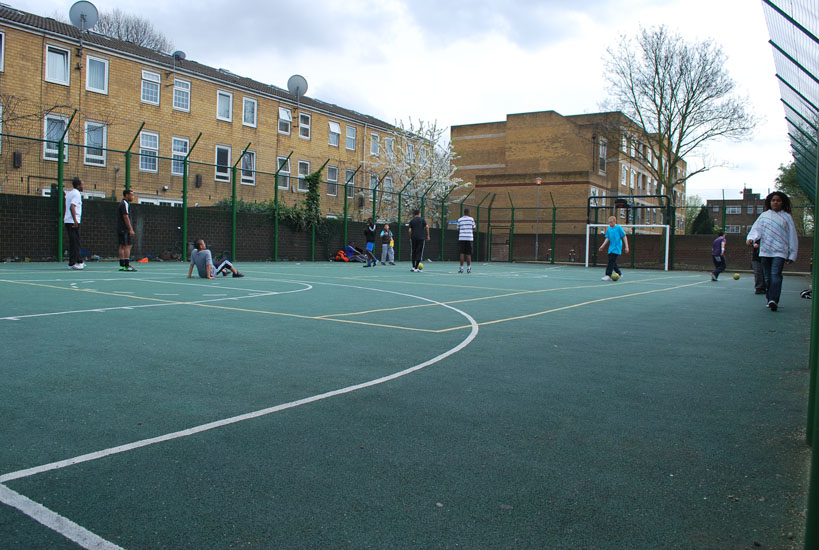 A social MUGA  was reinstated as part of the greening strategy.